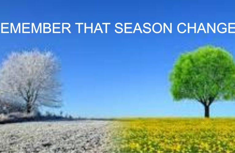 REMEMBER SEASONS CHANGE, DO NOT FEEL ALONE TODAY.