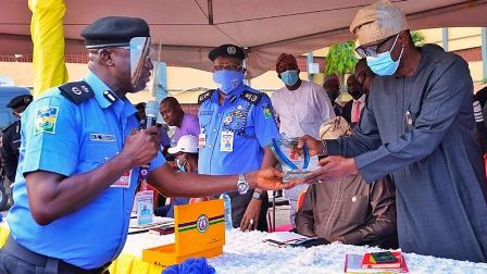 Lagos State Governor's visit to police headquarters Ikeja